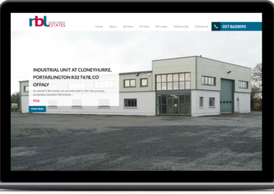 RBL Estate Agent Web Design