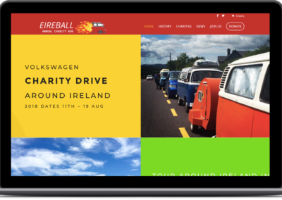 Eireball Charity Website Design