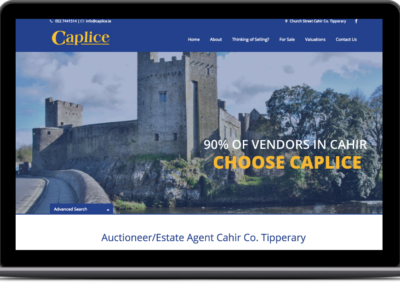 Caplice Estate Agent Web Design