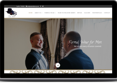 Looking Good. New Website for Men Suit Hire Company Top Hat