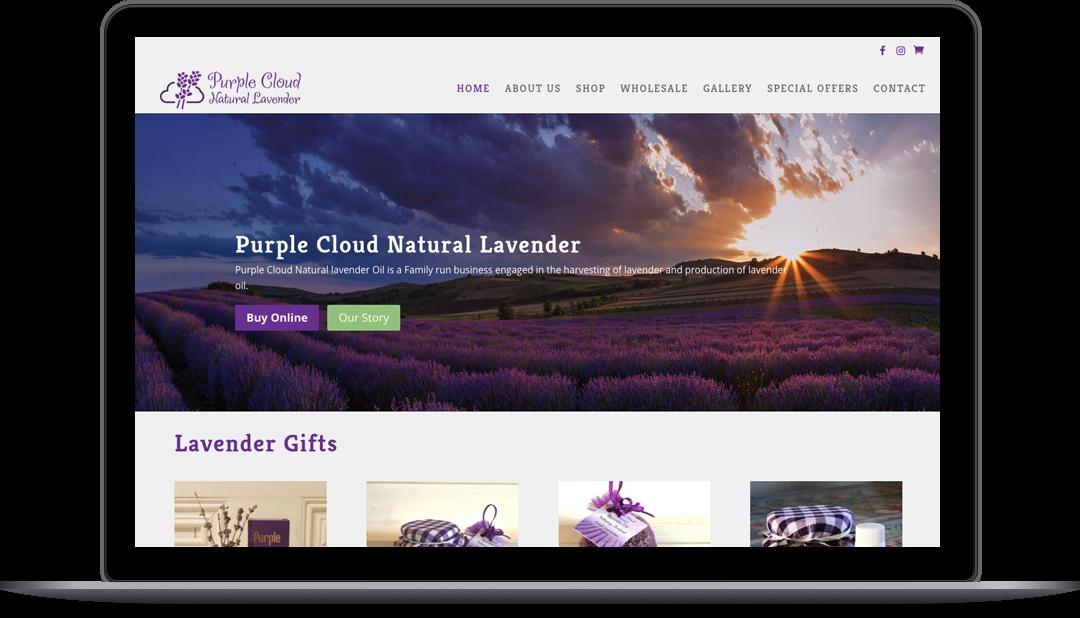 Purple Cloud Natural Lavender eCommerce Store