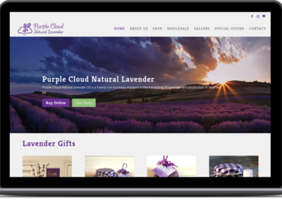 Purple Cloud Natural Lavender eCommerce Store